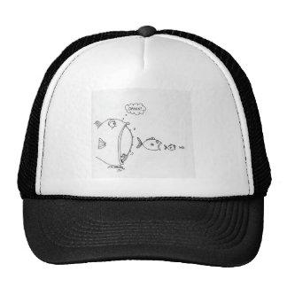 Dibujo animado 4172 de la pesca gorras