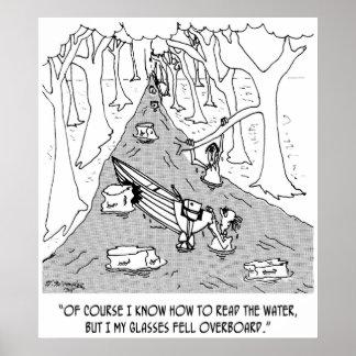 Dibujo animado 4656 del canotaje póster