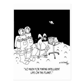 Dibujo animado 5595 del astronauta tarjeta postal
