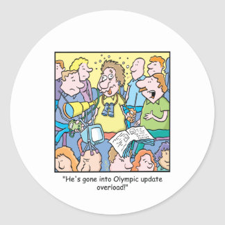 Dibujo animado 6 de Olympamania Pegatina Redonda