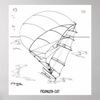 Dibujo animado 7459 del catamarán póster