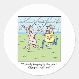Dibujo animado 8 de Olympamania Etiquetas Redondas