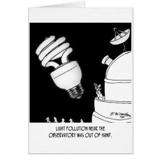 Dibujo animado 9209 de la astronomía tarjeta de felicitación