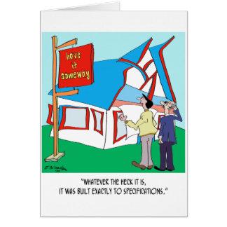 Dibujo animado 9233 del edificio tarjeta de felicitación