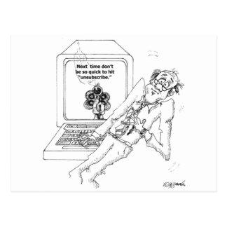Dibujo animado 9328 del ordenador tarjetas postales