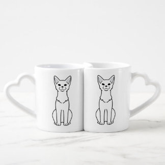 Dibujo animado abisinio del gato taza amorosa