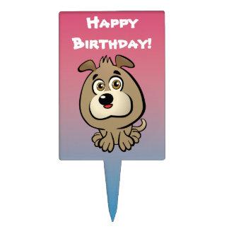 Dibujo animado adaptable del perrito figuras para tartas