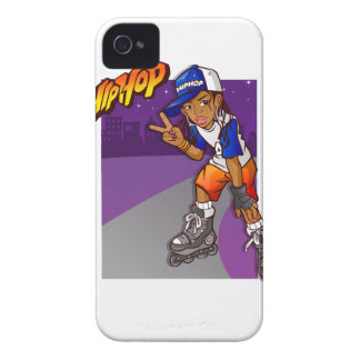 Dibujo animado adolescente del patinador de Hip Case-Mate iPhone 4 Cobertura
