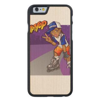 Dibujo animado adolescente del patinador de Hip Funda De iPhone 6 Carved® De Arce