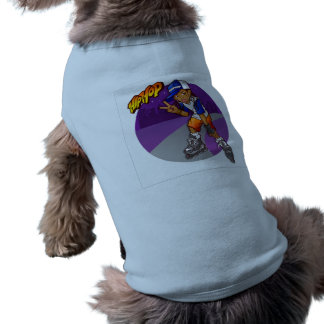Dibujo animado adolescente del patinador de Hip Camiseta Sin Mangas Para Perro