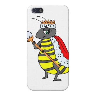 Dibujo animado adorable de la abeja reina iPhone 5 carcasa