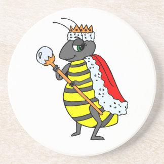 Dibujo animado adorable de la abeja reina posavasos diseño