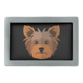 Dibujo animado adorable Yorkshire Terrier, Yorkie Hebillas Cinturón Rectangulares