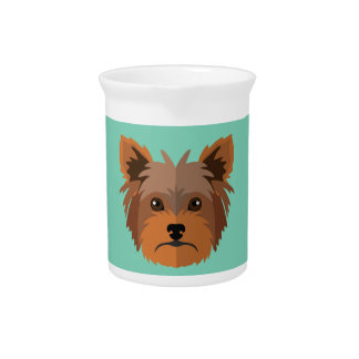 Dibujo animado adorable Yorkshire Terrier, Yorkie Jarra Para Bebida