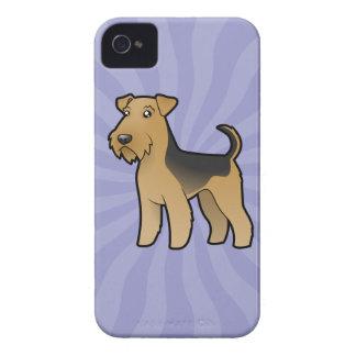 Dibujo animado Airedale Terrier/Terrier galés Carcasa Para iPhone 4 De Case-Mate