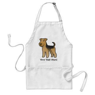 Dibujo animado Airedale Terrier/Terrier galés Delantal