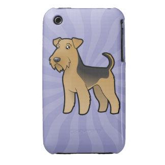 Dibujo animado Airedale Terrier/Terrier galés Funda Bareyly There Para iPhone 3 De Case-Mate
