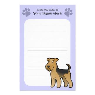 Dibujo animado Airedale Terrier/Terrier galés Papeleria