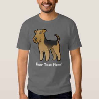 Dibujo animado Airedale Terrier/Terrier galés Remeras