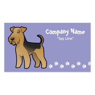 Dibujo animado Airedale Terrier/Terrier galés Plantillas De Tarjeta De Negocio