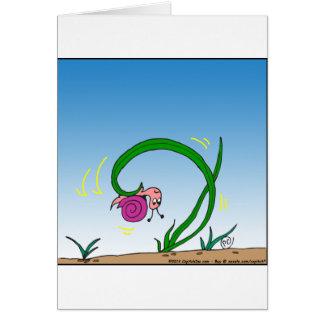 dibujo animado al revés del caracol 647 tarjeta de felicitación