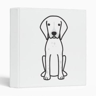 Dibujo animado alemán del perro del indicador de p