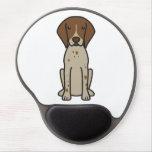 Dibujo animado alemán del perro del indicador de p alfombrillas con gel