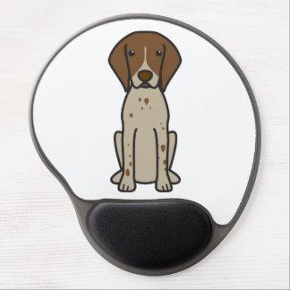 Dibujo animado alemán del perro del indicador de p alfombrillas de ratón con gel