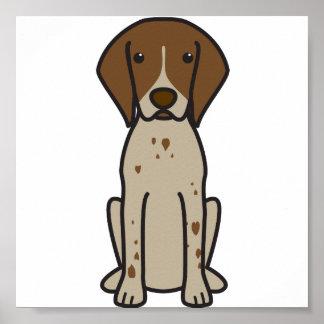 Dibujo animado alemán del perro del indicador de p posters