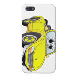 Dibujo animado amarillo de Covertible del coche de iPhone 5 Carcasas
