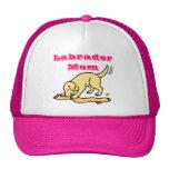 Dibujo animado amarillo de la media de Labrador Gorras