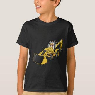 Dibujo animado amarillo de la retroexcavadora camisas