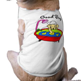 Dibujo animado amarillo de los patos de Labrador y Playera Sin Mangas Para Perro