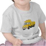 Dibujo animado amarillo del árbol del camión volqu camisetas