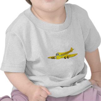 Dibujo animado amarillo del avión de pasajeros O Camiseta