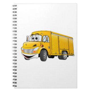 Dibujo animado amarillo del camión de la bebida spiral notebooks
