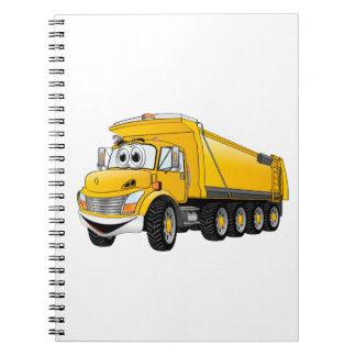 Dibujo animado amarillo del camión volquete 10w spiral notebooks