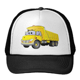 Dibujo animado amarillo del camión volquete gorra