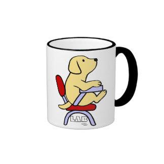 Dibujo animado amarillo del estudiante 1 de Labrad Taza De Café