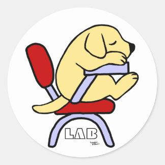 Dibujo animado amarillo del estudiante 2 de Labrad Pegatinas