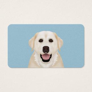 dibujo animado amarillo del labrador retriever tarjetas de visita