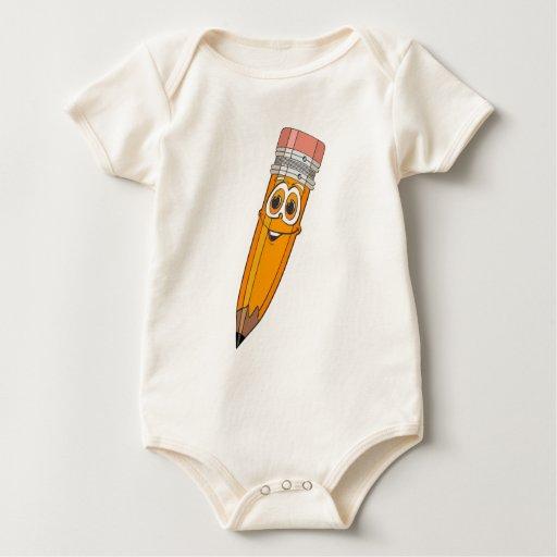Dibujo animado amarillo del lápiz body para bebé