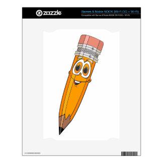 Dibujo animado amarillo del lápiz NOOK skins