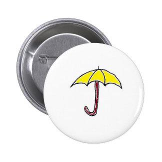 Dibujo animado amarillo del paraguas
