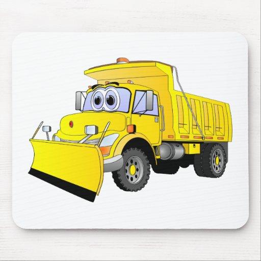 Dibujo animado amarillo del quitanieves tapetes de raton