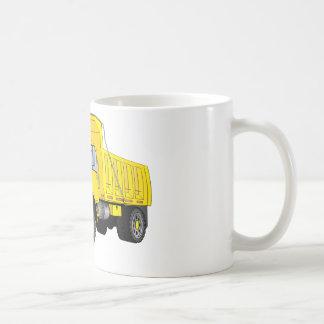 Dibujo animado amarillo del quitanieves tazas