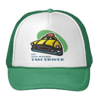 Dibujo animado amarillo del taxi: No su taxista me Gorros