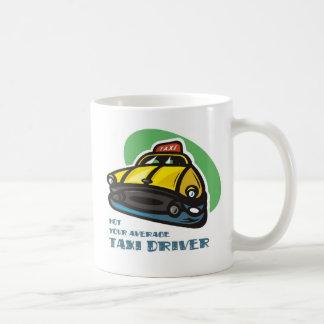 Dibujo animado amarillo del taxi: No su taxista Taza De Café