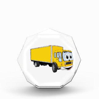 Dibujo animado amarillo grande del camión de