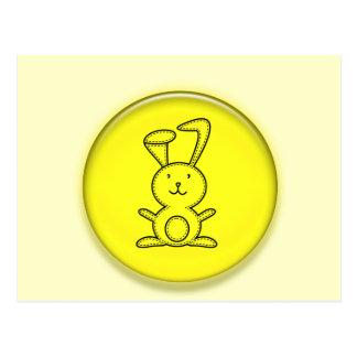 Dibujo animado amarillo lindo del conejito 3D Postales